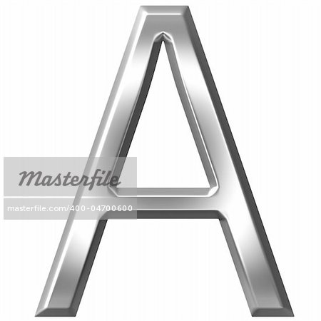 3d silver letter A isolated in white Stock Photo - Budget Royalty-Free, Image code: 400-04700600