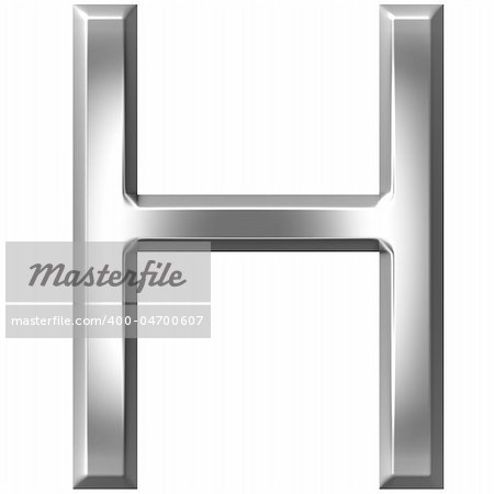 3d silver letter H isolated in white Stock Photo - Budget Royalty-Free, Image code: 400-04700607