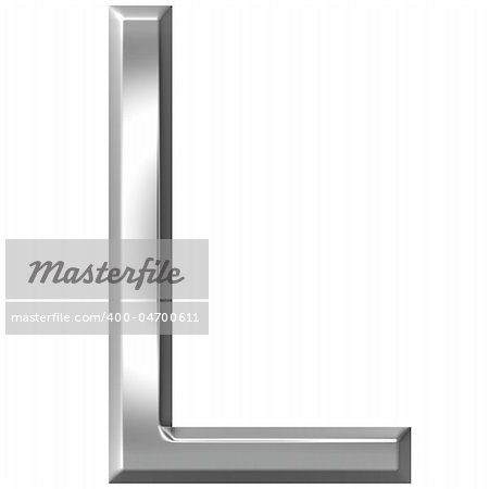 3d silver letter L isolated in white Stock Photo - Budget Royalty-Free, Image code: 400-04700611