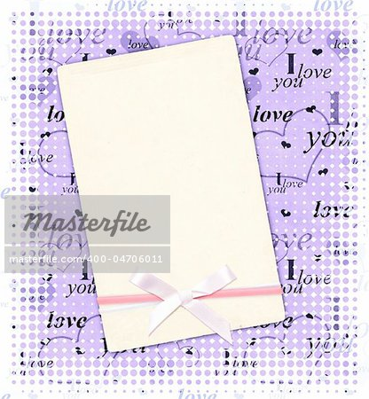 Square valentine background with blue hearts