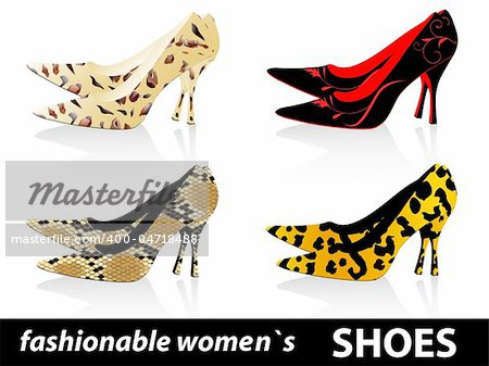 Set of four pairs fashionable women`s shoes Stock Photo - Budget Royalty-Free, Image code: 400-04718488