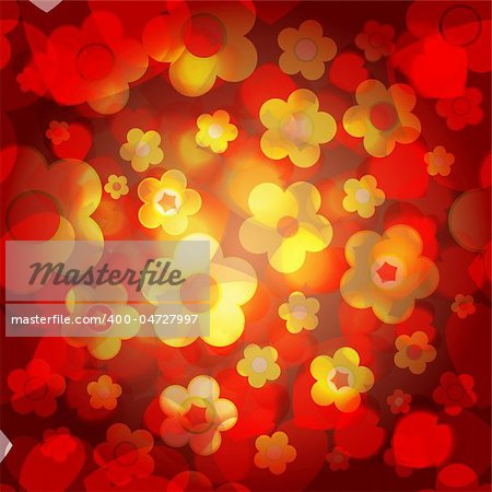 Seamless tile-able flower background - vector wrapping paper pattern