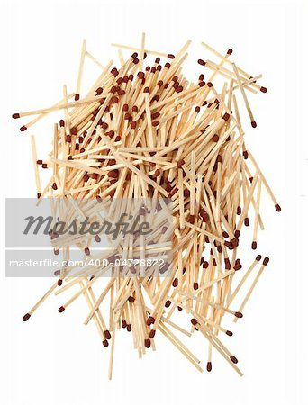 a bunch of matches isolated on white background Stock Photo - Budget Royalty-Free, Image code: 400-04728822
