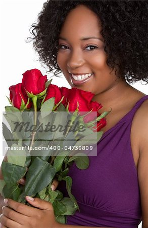 Woman holding red roses Stock Photo - Budget Royalty-Free, Image code: 400-04739809