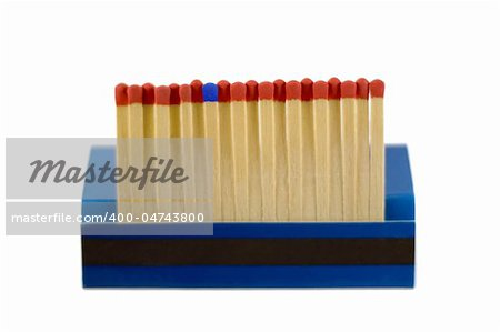 matches row - match leader isolated on white background Stock Photo - Budget Royalty-Free, Image code: 400-04743800