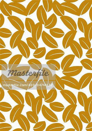 Seamless brown leaf background - vector include pattern source - easy to modify