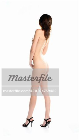 sensual girl isolated in studio on white background Stock Photo - Budget Royalty-Free, Image code: 400-04759480