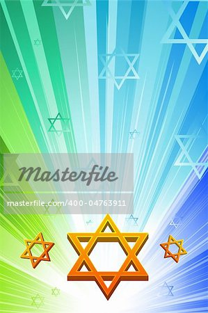 illustration of happy hanukkah with star of david Stock Photo - Budget Royalty-Free, Image code: 400-04763911