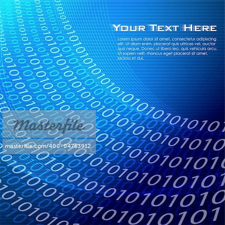 illustration of vector background with binary numbers Stock Photo - Budget Royalty-Free, Image code: 400-04763912