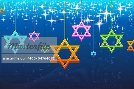illustration of multicolorful hanukkah card Stock Photo - Budget Royalty-Free, Image code: 400-04764081