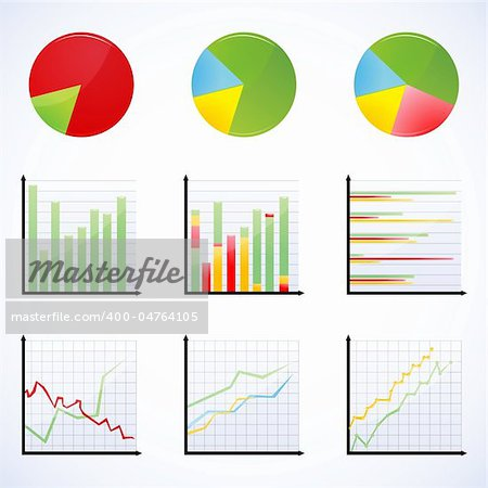 illustration of different graphs Stock Photo - Budget Royalty-Free, Image code: 400-04764105