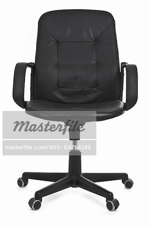 leather chair on white background, minimal natural shadow under it Stock Photo - Budget Royalty-Free, Image code: 400-04764185