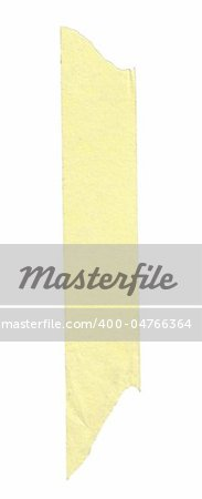 long stripe of yellow paper tape, edges are naturaly frayed Stock Photo - Budget Royalty-Free, Image code: 400-04766364