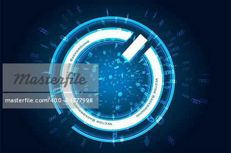 illustration of abstract power button on white background Stock Photo - Budget Royalty-Free, Image code: 400-04777998