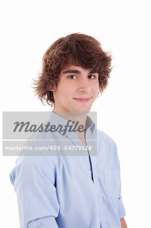 cute boy, smiling, isolated on white, studio shot Stock Photo - Budget Royalty-Free, Image code: 400-04779528