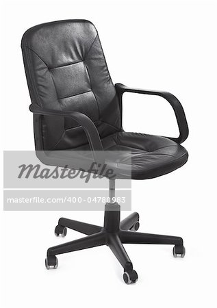 leather chair on white background, minimal natural shadow under it Stock Photo - Budget Royalty-Free, Image code: 400-04780983
