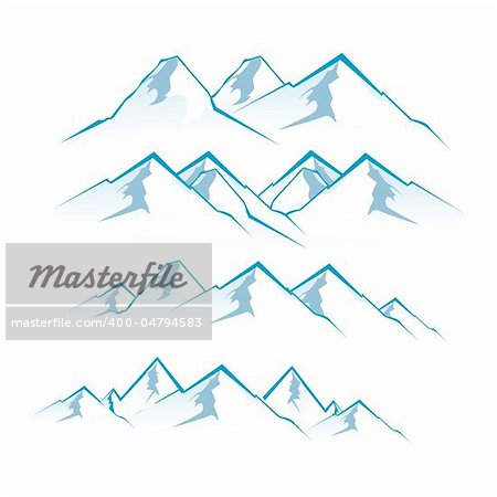 illustration of mountain view on white background Stock Photo - Budget Royalty-Free, Image code: 400-04794583