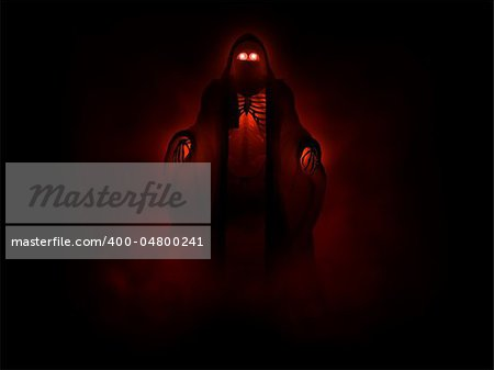 3d illustration of a grim reaper undead character Stock Photo - Budget Royalty-Free, Image code: 400-04800241