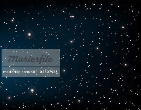 Beautiful night starry sky background . Vector illustration. Stock Photo - Budget Royalty-Free, Image code: 400-04807983