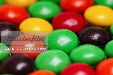 Background of colorful candies coated chocolate sweets Stock Photo - Budget Royalty-Free, Image code: 400-04809519