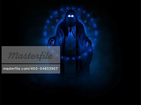 3d illustration of a wraith ghost Stock Photo - Budget Royalty-Free, Image code: 400-04833907