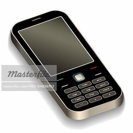 Mobile phone vector illustration Stock Photo - Budget Royalty-Free, Image code: 400-04836743
