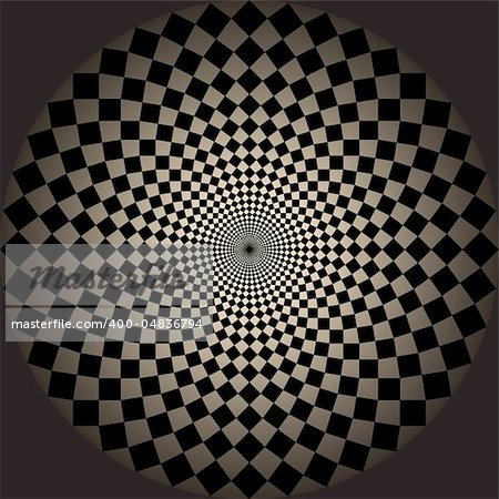 Abstract design with geometric shapes optical illusion illustration Stock Photo - Budget Royalty-Free, Image code: 400-04836794
