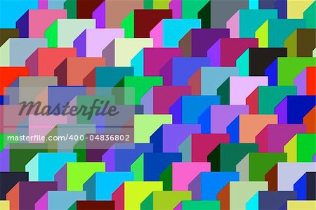 Abstract design with geometric shapes optical illusion illustration Stock Photo - Budget Royalty-Free, Image code: 400-04836802