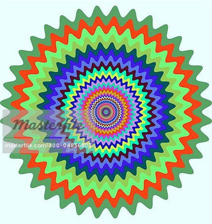 Abstract design with geometric shapes optical illusion illustration Stock Photo - Budget Royalty-Free, Image code: 400-04836803
