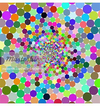 Abstract design with geometric shapes optical illusion illustration Stock Photo - Budget Royalty-Free, Image code: 400-04836806