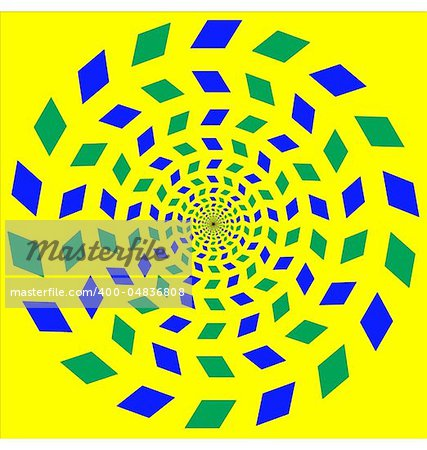 Abstract design with geometric shapes optical illusion illustration Stock Photo - Budget Royalty-Free, Image code: 400-04836808