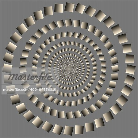 Abstract design with geometric shapes optical illusion illustration Stock Photo - Budget Royalty-Free, Image code: 400-04836810