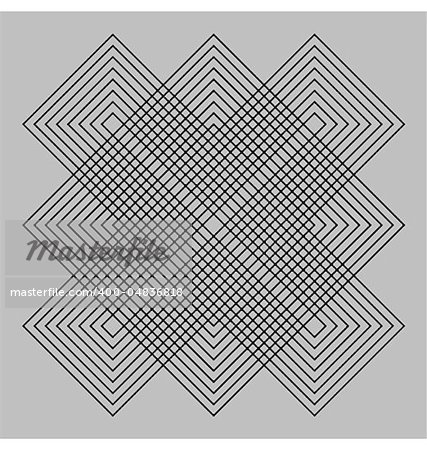 Abstract design with geometric shapes optical illusion illustration Stock Photo - Budget Royalty-Free, Image code: 400-04836818