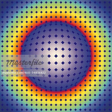 Abstract design with geometric shapes optical illusion illustration Stock Photo - Budget Royalty-Free, Image code: 400-04836822