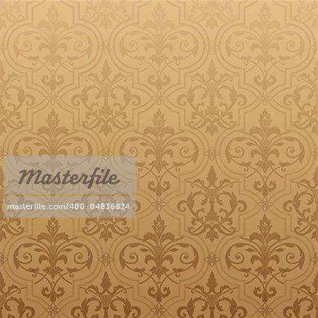 Seamless wallpaper background. Vector illustration Stock Photo - Budget Royalty-Free, Image code: 400-04836824