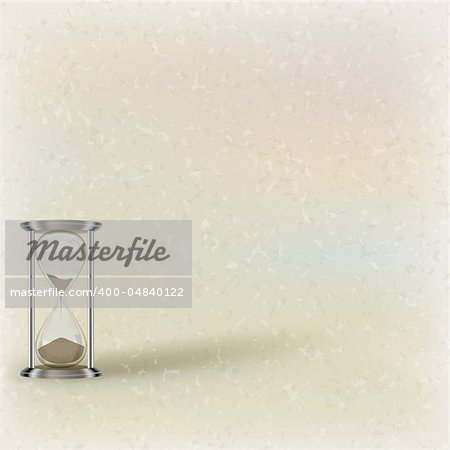 abstract illustration with hourglass on beige background Stock Photo - Budget Royalty-Free, Image code: 400-04840122