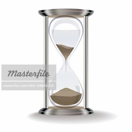 old hourglass isolated on a white background Stock Photo - Budget Royalty-Free, Image code: 400-04840125