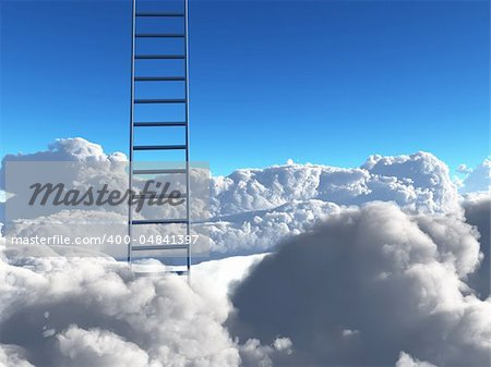 Ladder into sky Stock Photo - Budget Royalty-Free, Image code: 400-04841397