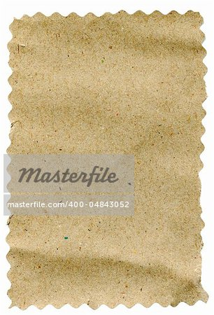 piece of brown paper isolated on white background Stock Photo - Budget Royalty-Free, Image code: 400-04843052