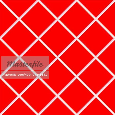 red seamless ceramic tiles, abstract texture; vector art illustration