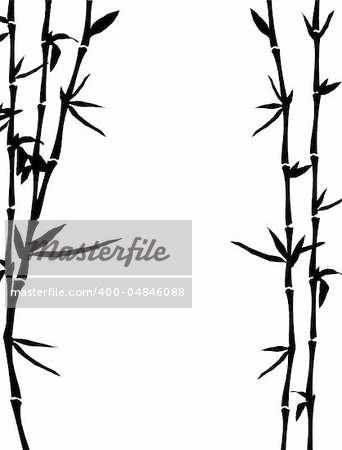 bamboo background, vector illustration Stock Photo - Budget Royalty-Free, Image code: 400-04846088