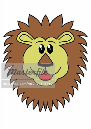 Illustration of a lions head Stock Photo - Budget Royalty-Free, Image code: 400-04848962