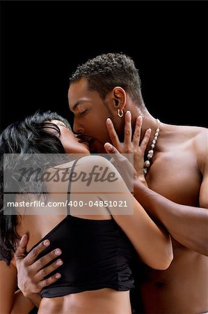 Fashion Couple Dramatic image shot in studio Stock Photo - Budget Royalty-Free, Image code: 400-04851021