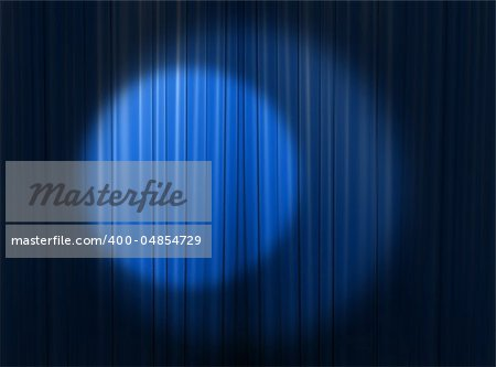 blue curtain of a classical theater Stock Photo - Budget Royalty-Free, Image code: 400-04854729