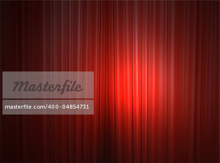 Red curtain of a classical theater Stock Photo - Budget Royalty-Free, Image code: 400-04854731