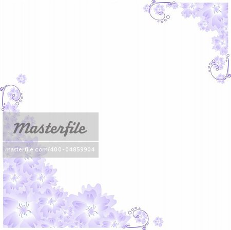 Vector illustration of lilac angular frame
