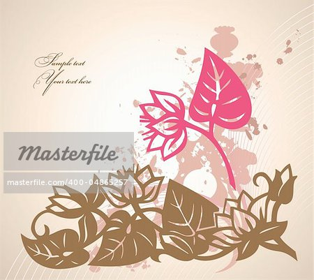 Abstract grunge flower background with element for design. Vector illustration
