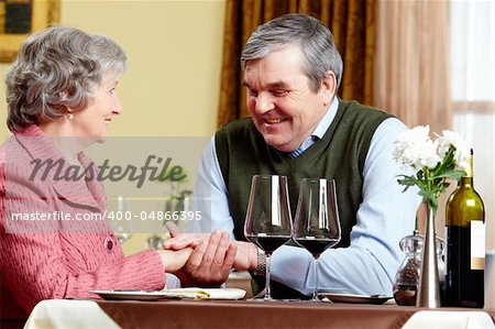 Image of man making a declaration of love to his wife Stock Photo - Budget Royalty-Free, Image code: 400-04866395