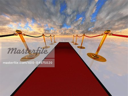 red carpet in open-space Stock Photo - Budget Royalty-Free, Image code: 400-04875020