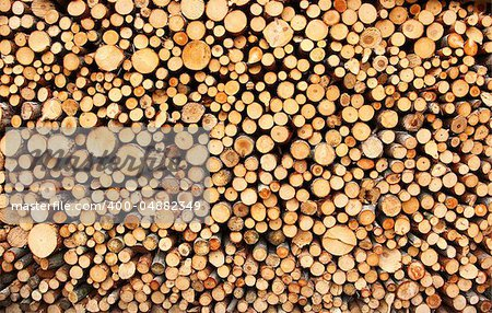 Pile of chopped fire wood prepared for winter Stock Photo - Budget Royalty-Free, Image code: 400-04882349